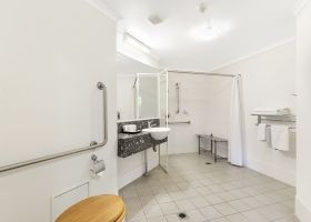 Disability Bathroom - The Wellington Apartments Hotel Brisbane